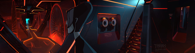 Tron: Uprising Vehicle Designs and Background Paintings Vaughan Ling