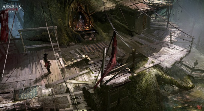 Assassin's Creed III Liberation Concept Art by Nacho Yagüe