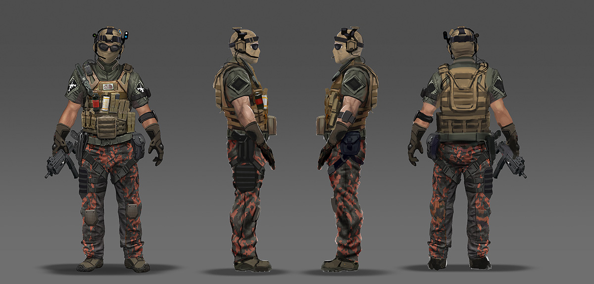 Call of Duty: Black Ops 2 Concept Art by Eric Chiang