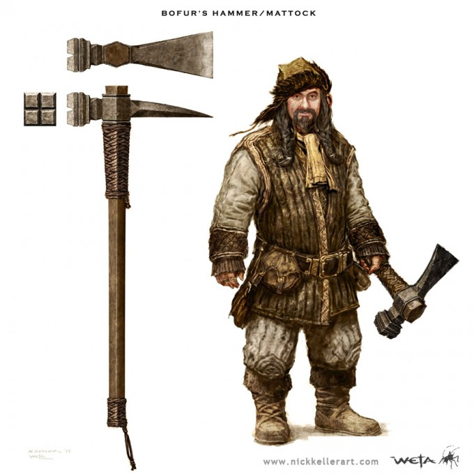 The_Hobbit_An_Unexpected_Journey_Concept_Art_NK_Bofurs_HammerMattock