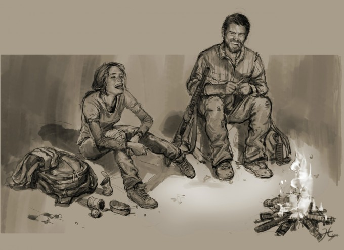 The_Last_of_Us_Concept_Art_Joel_Ellie_Campfire_HN-01
