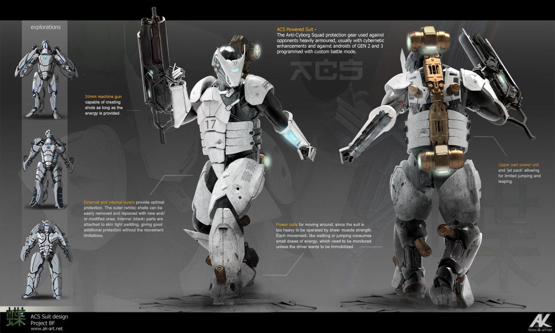 Cybernetic Human Concept Art