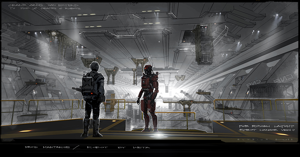 Elysium Concept Art By George Hull Concept Art World
