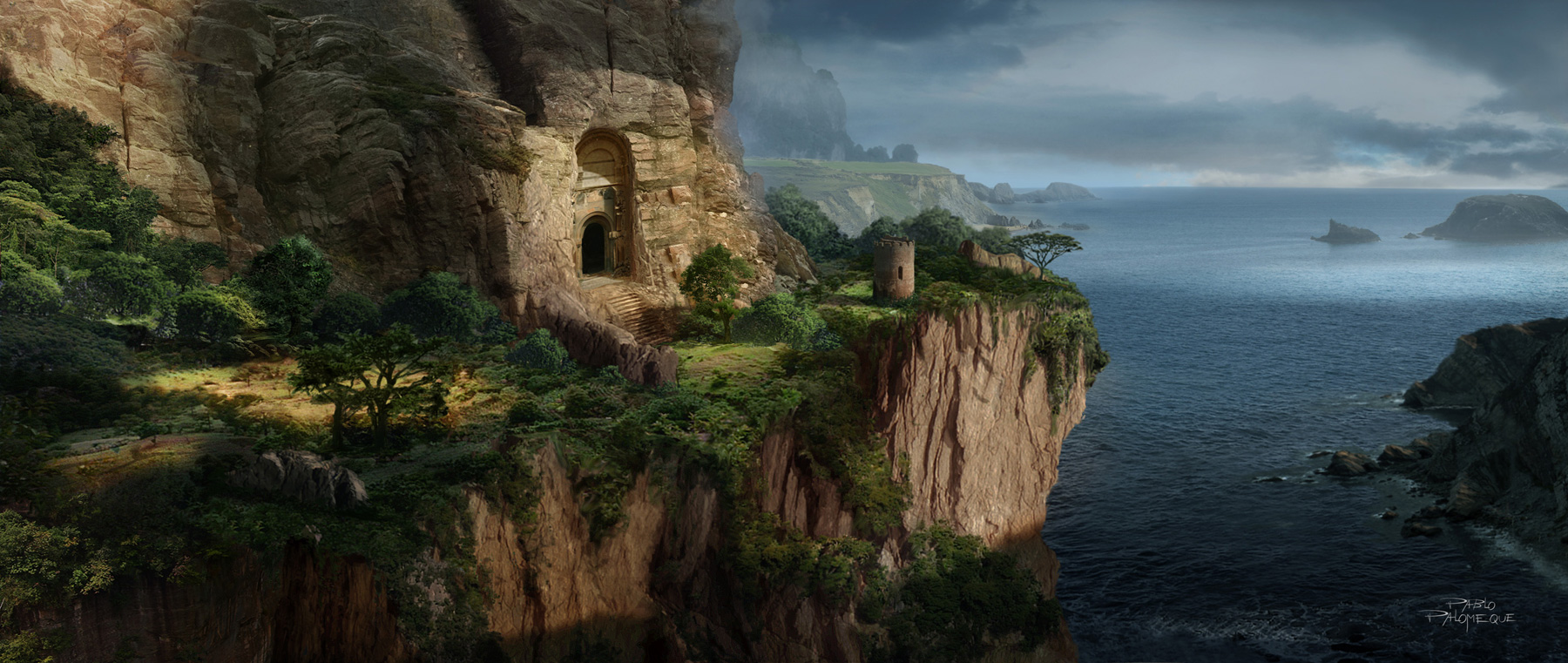 Pablo palomeque concept art world for Matte painting