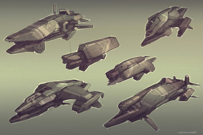 Quantum_Rush_Concept_Art_civ_ships_sktches_all