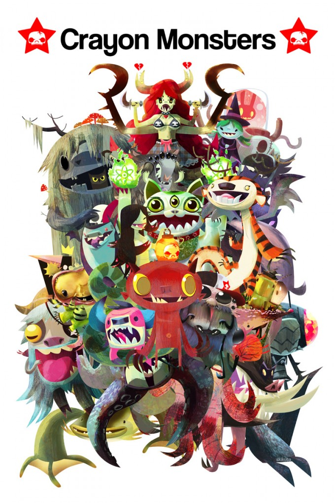 Scott_Kikuta_Art_Crayonmonsters_Mashup
