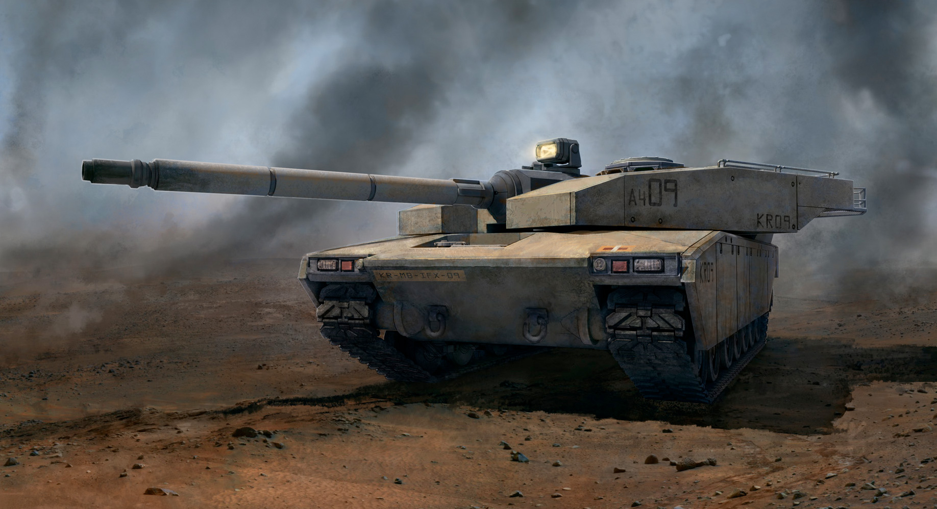 Tank Concept Art By Kemp Remillard 01