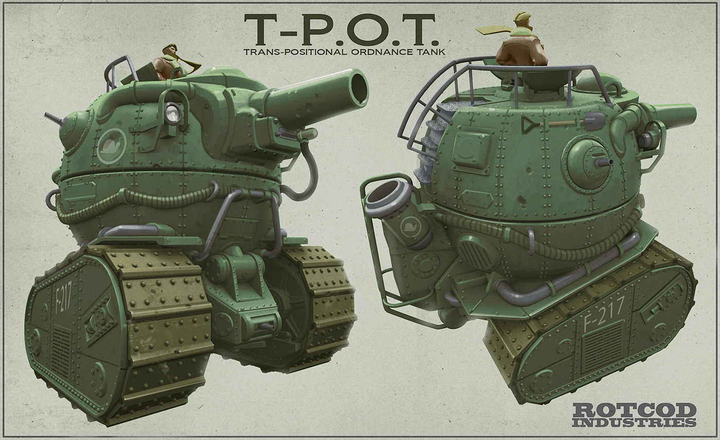 Illustrations and Concepts of Tanks I | Concept Art World