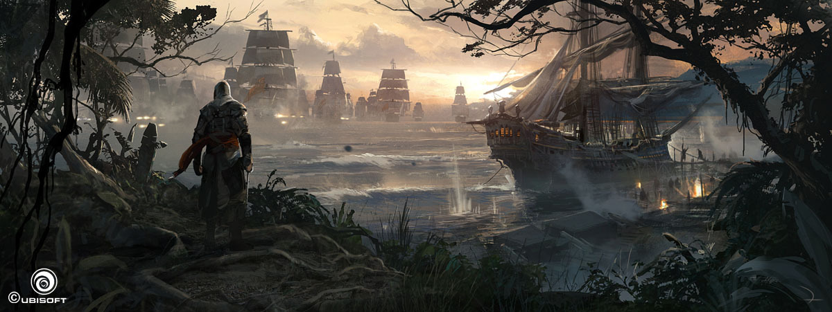 Assassin S Creed Iv Black Flag Concept Art By Martin Deschambault