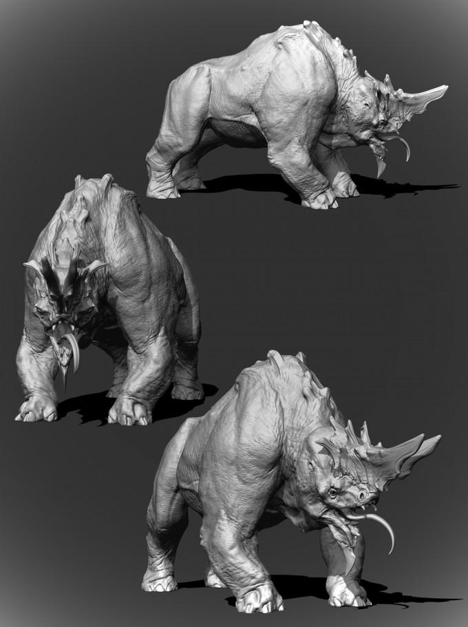 Rhinodino_FinalSculpt