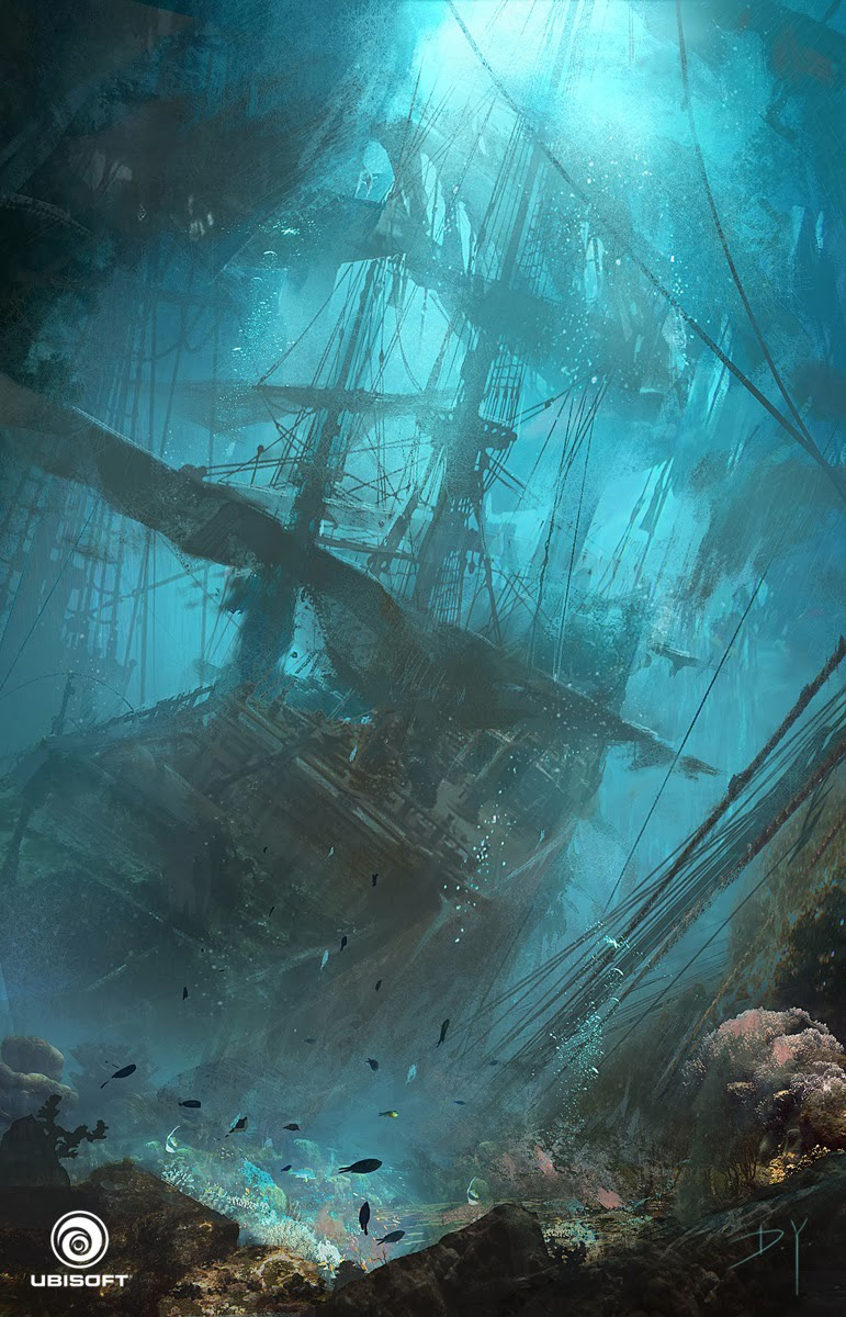 Assassin's Creed IV Black Flag Concept Art By Donglu Yu