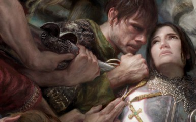 Painting_Joan_of_Arc_with_Donato_Giancola_MA01