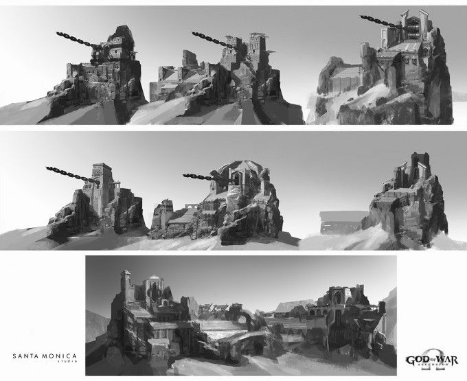 God_of_War_Ascension_Concept_Art_Canyon-Chain-Tower-Sketch_LukeBerliner