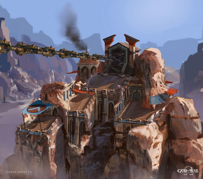 God_of_War_Ascension_Concept_Art_Canyon-Chain-Tower_LukeBerliner