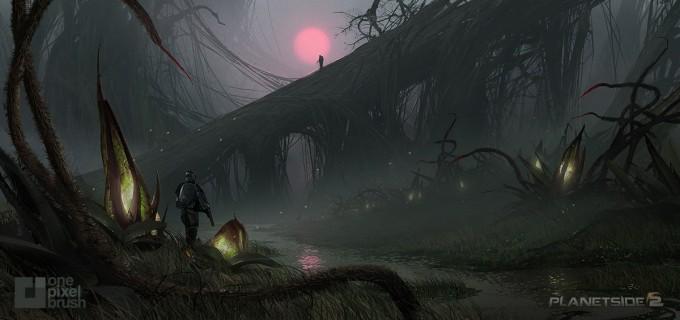 Planetside_2-01Swamp-Basin_Concept_Art_OnePixelBrush