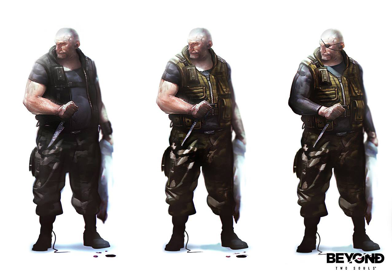 Game Character Concept Design : Beyond two souls character concept art by florent auguy