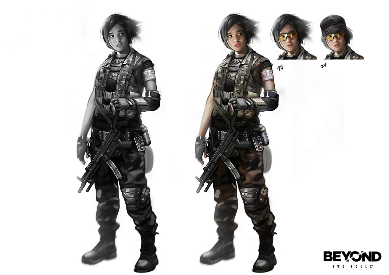 Beyond Two Souls Character Concept Art by Florent Auguy | Concept ...
