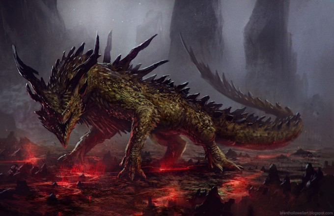 Brent_Hollowell_Concept_Art_Illustration_02_dragon_fires