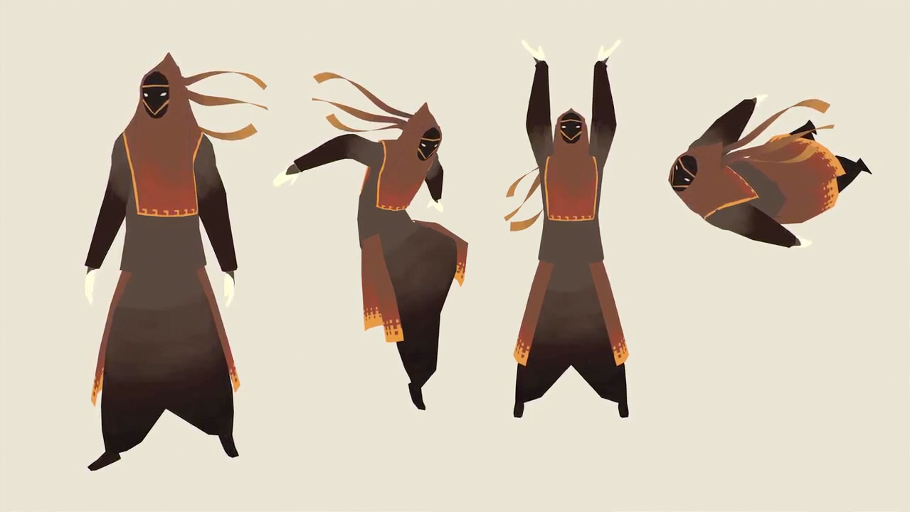 Game Design Character Artist : The art of journey concept world