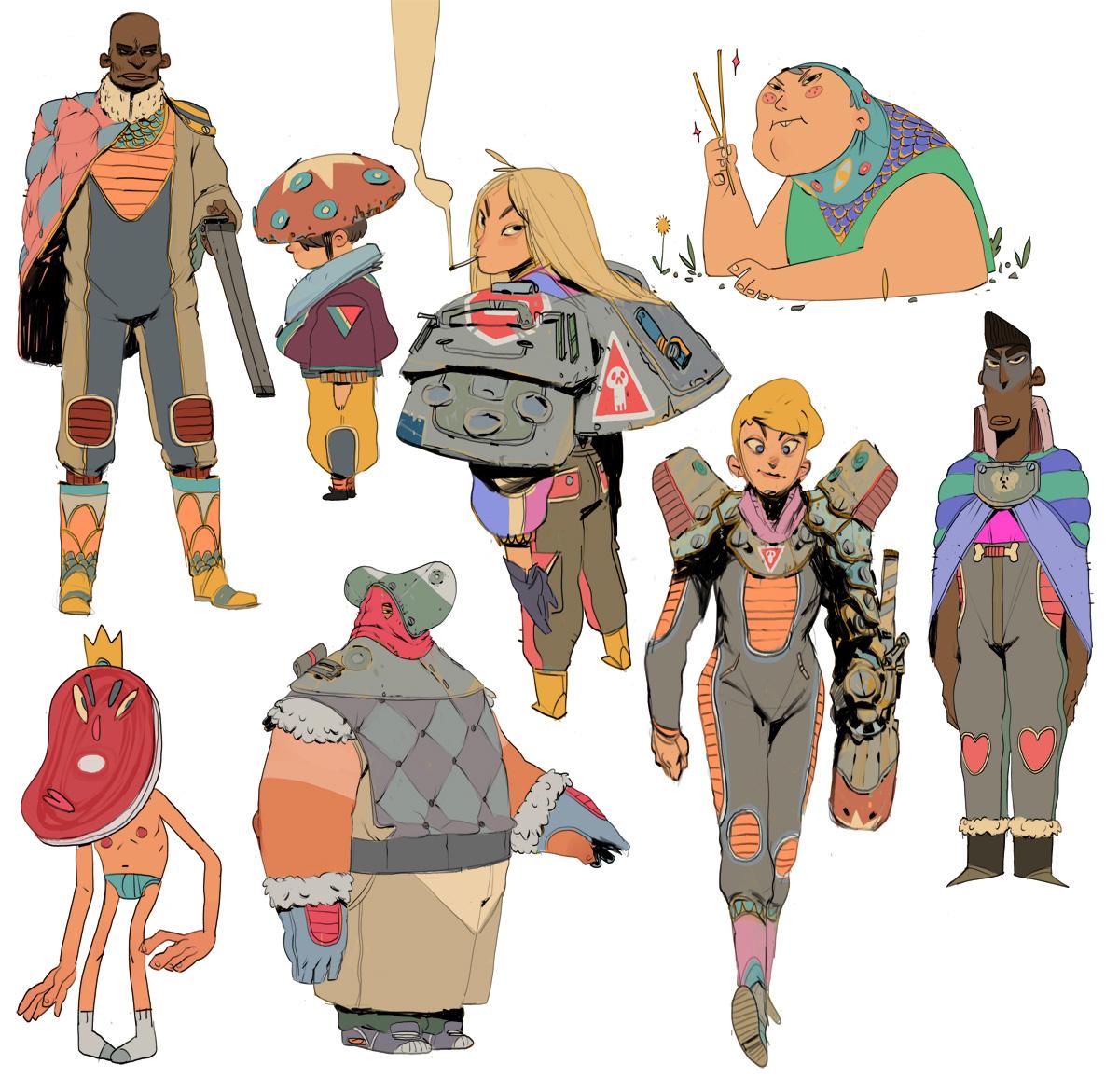 Character Design Courses Canada : Alexandre diboine concept art world