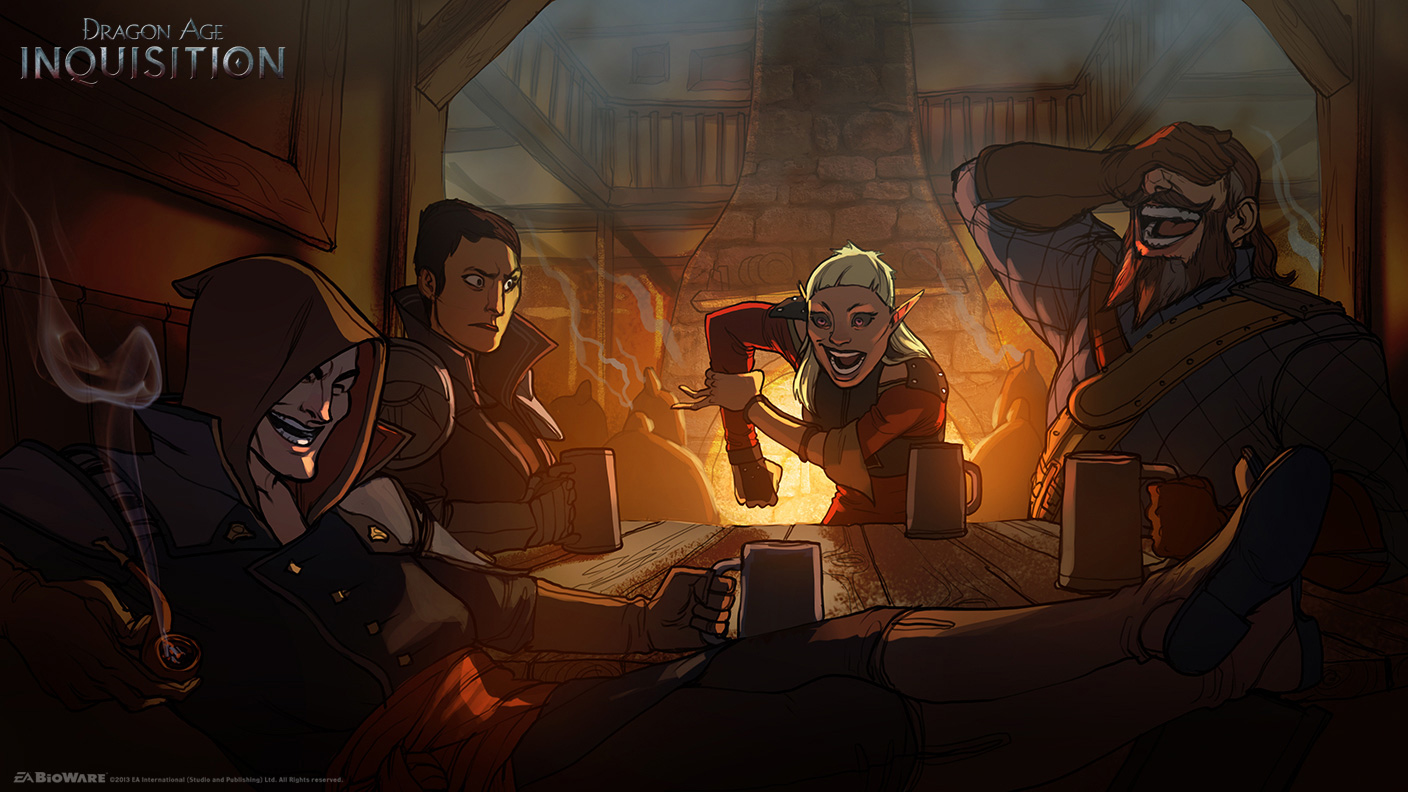 Dragon age inquisition concept art and illustrations by matt rhodes
