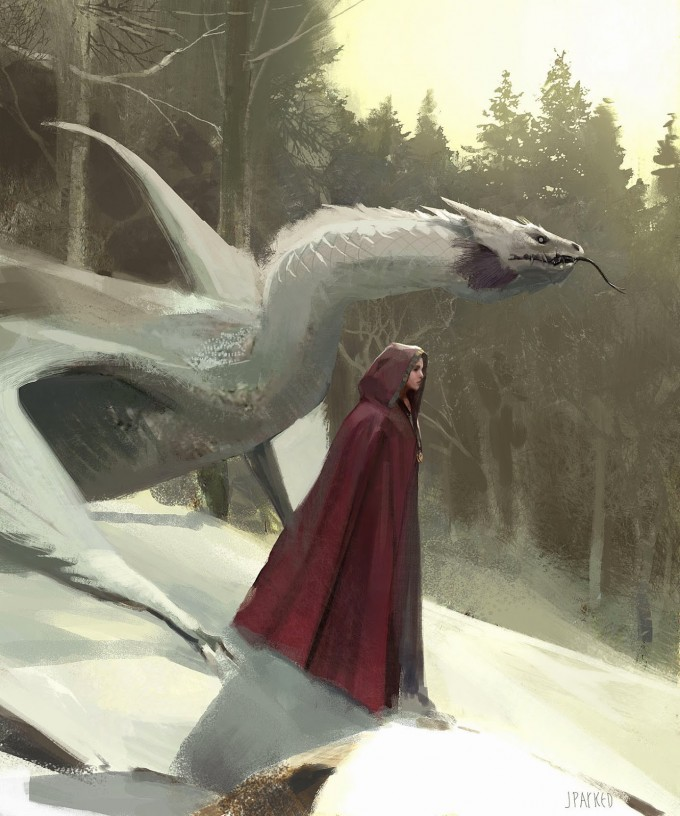 John_Park_Dragon_Girl_Concept_Art_Illustration
