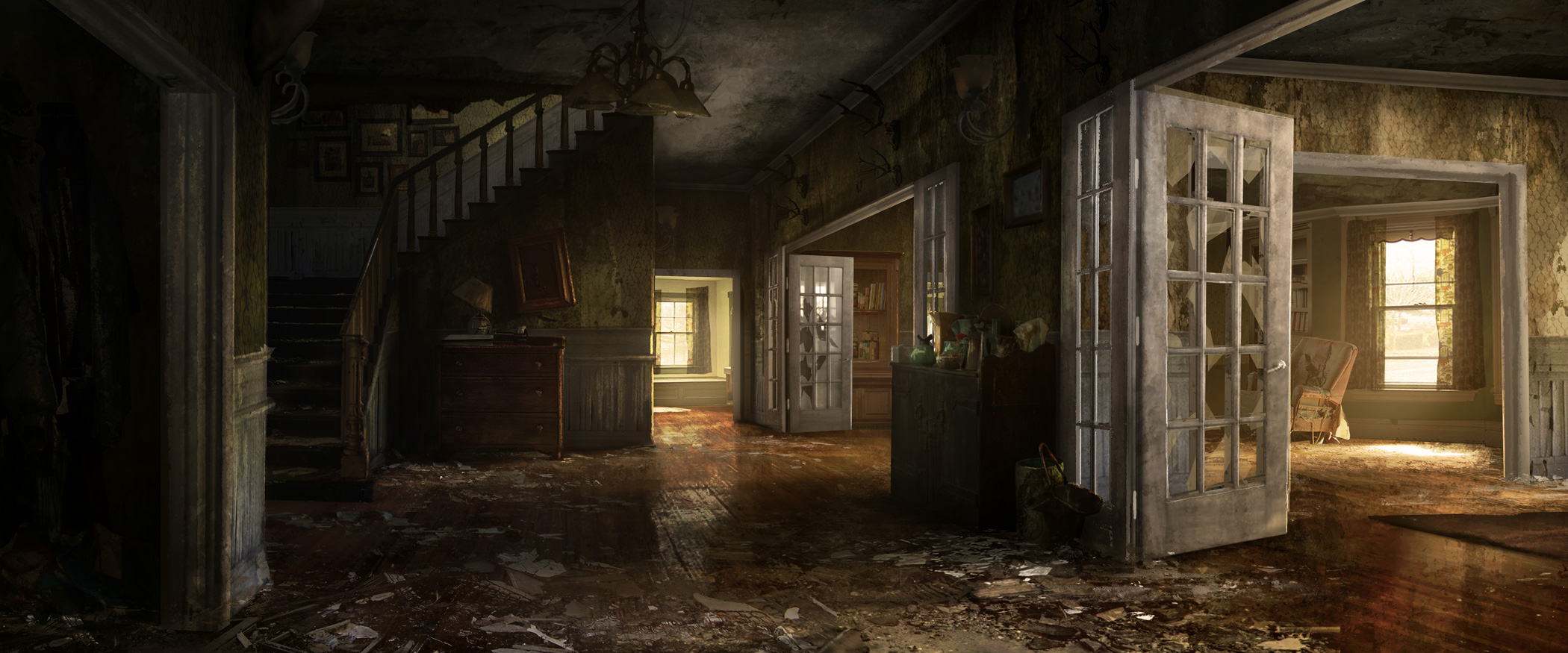 Unity 5 Post Apocalyptic House Interior Polycount