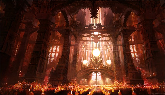 James_Paick_Concept_Art_Dragon_Light_Catherdral
