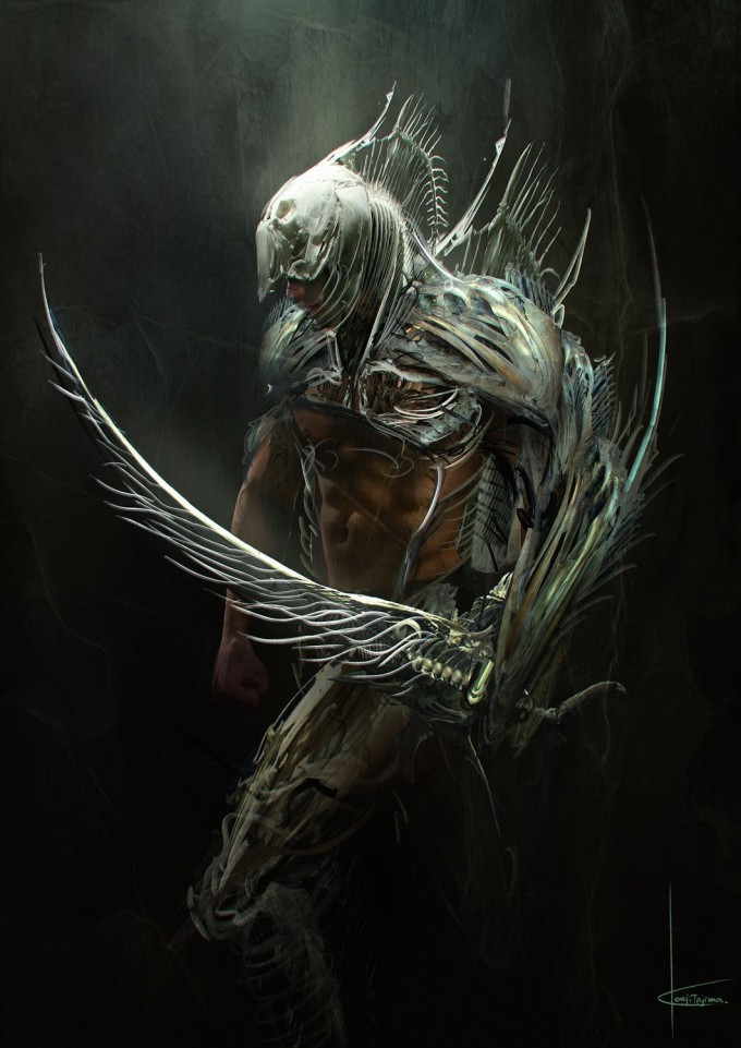 Kouji_Tajima_Concept_Art_Illustration_16_Fishbone_Gladiator