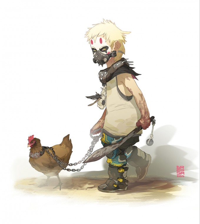 Sergi_Brosa_Concept_Art_Illustration_Wasteland-Kids1