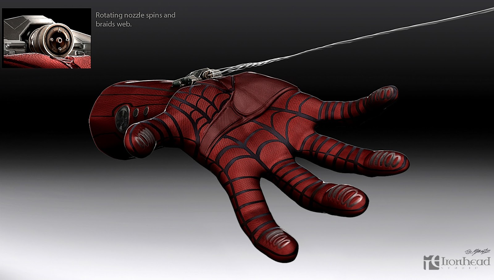 The amazing spider man web shooter design