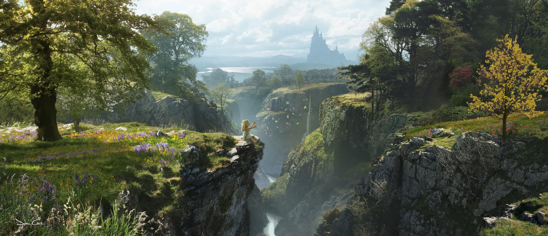 美しすぎるディズニーのファンタジー世界ですね