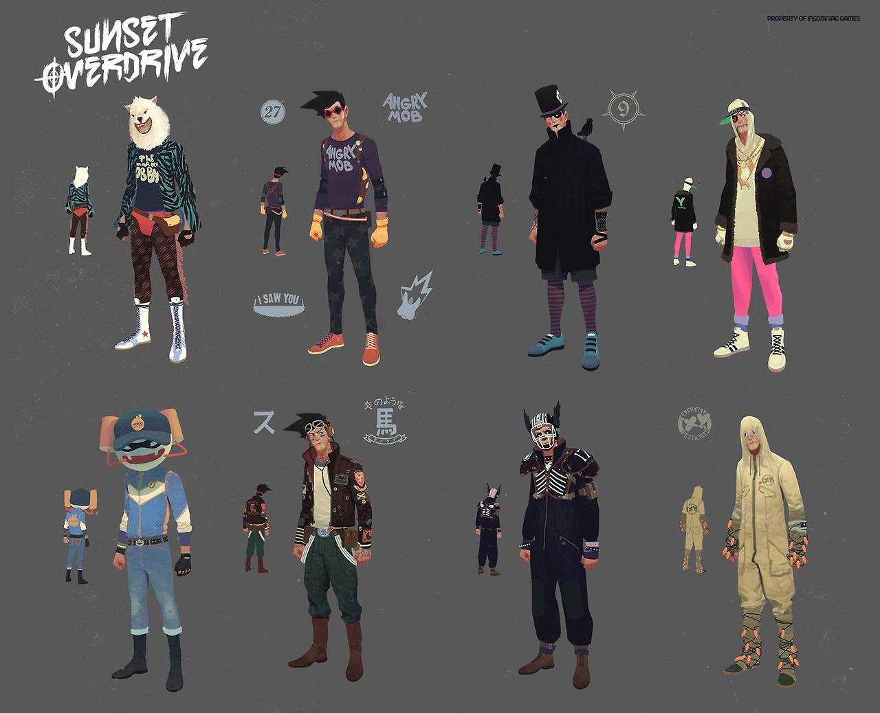 Character Design And Concept Art : Sunset overdrive concept art and illustration by vasili