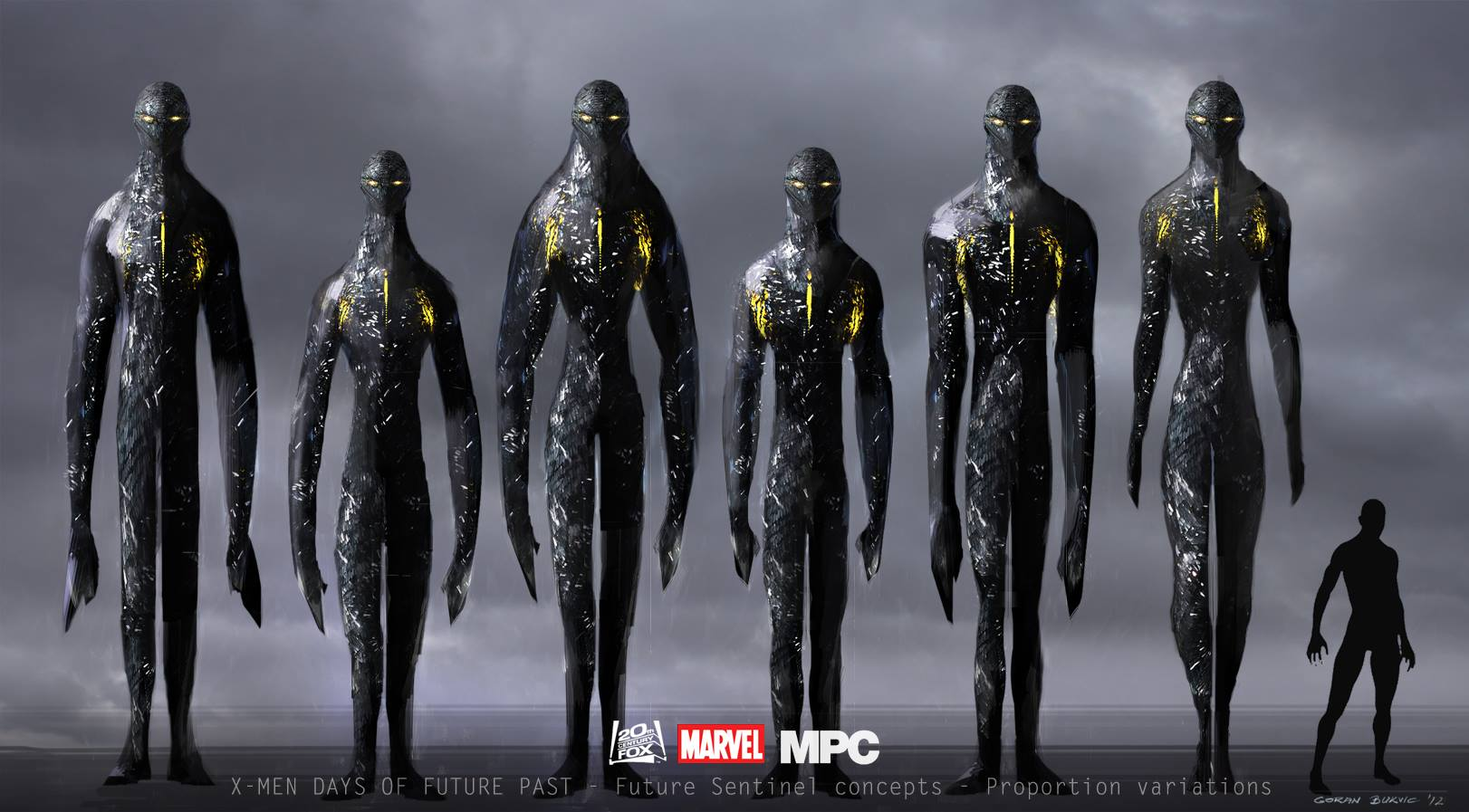 Men  Days of Future Past Sentinel Concept Art by Goran BukvicX Men Days Of Future Past Sentinel Mark X