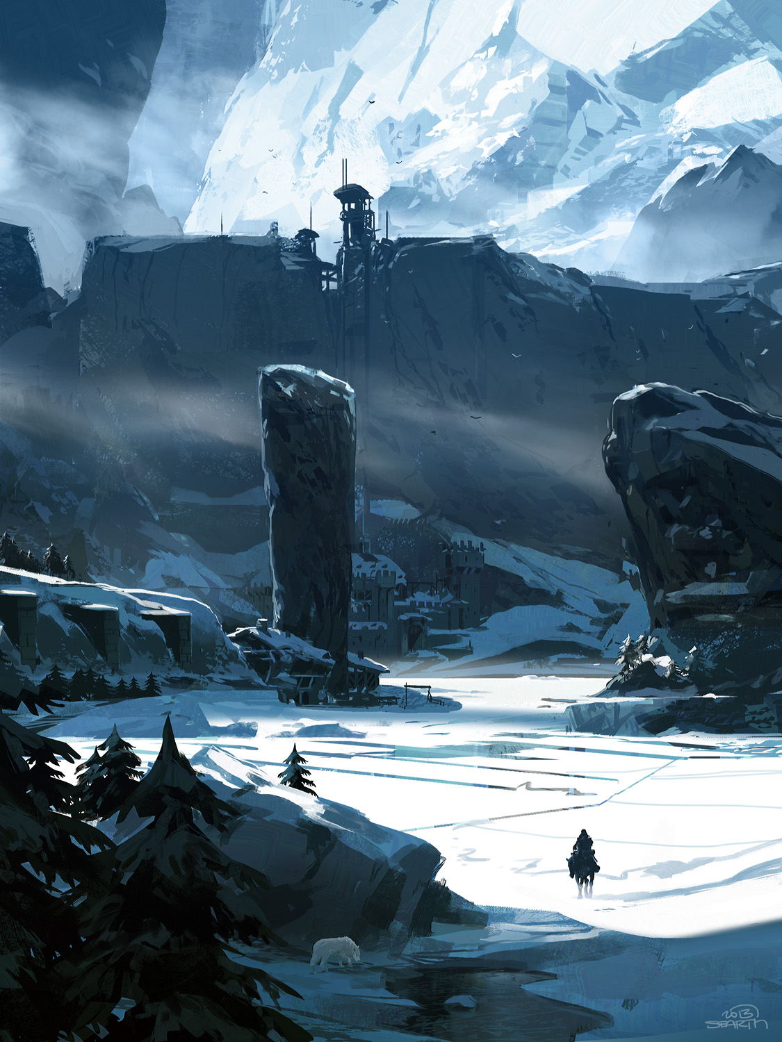 Game Of Thrones Concept Art Illustration 01 Sparth The Wall Zezhou Chen Accent
