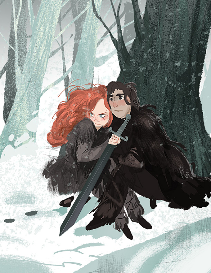 Game_of_Thrones_Concept_Art_Illustration_01_Victoria_Ying_Jon_Ygritte