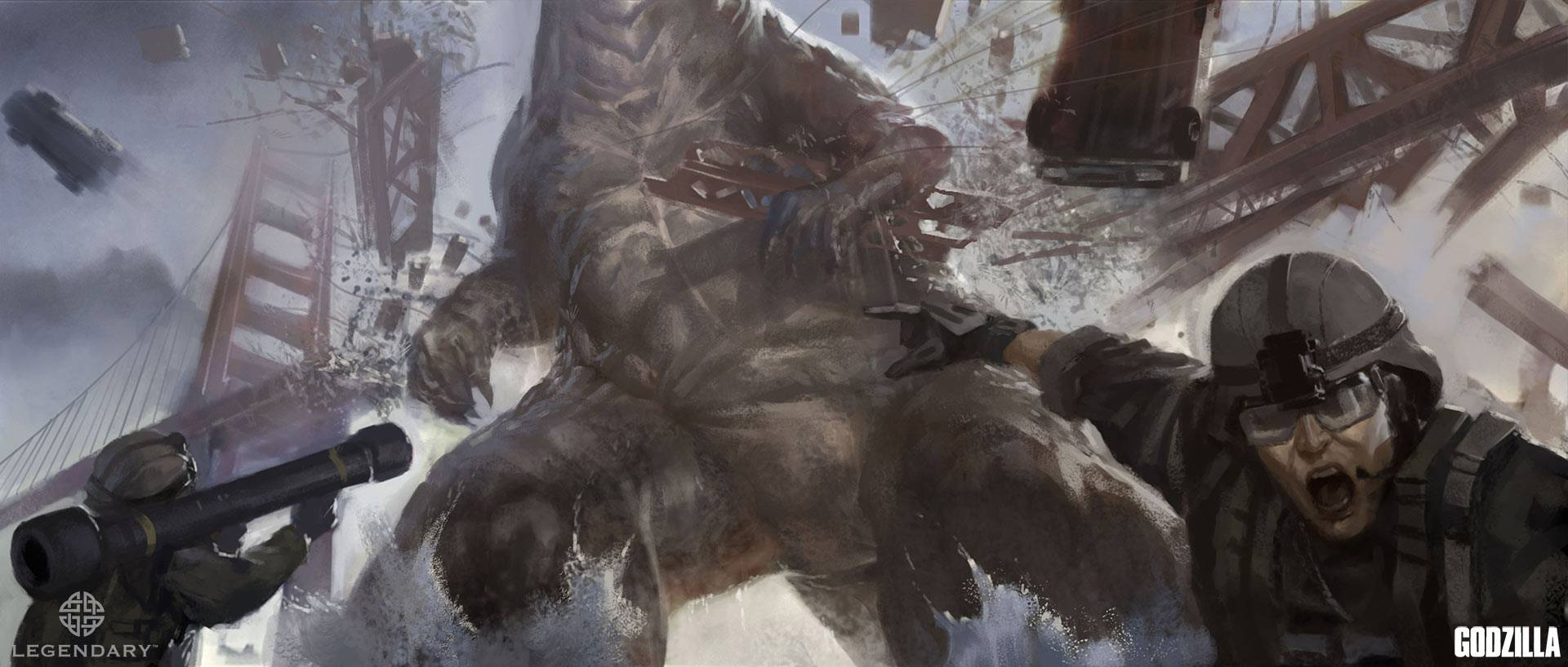 Godzilla concept art by kan muftic concept art world