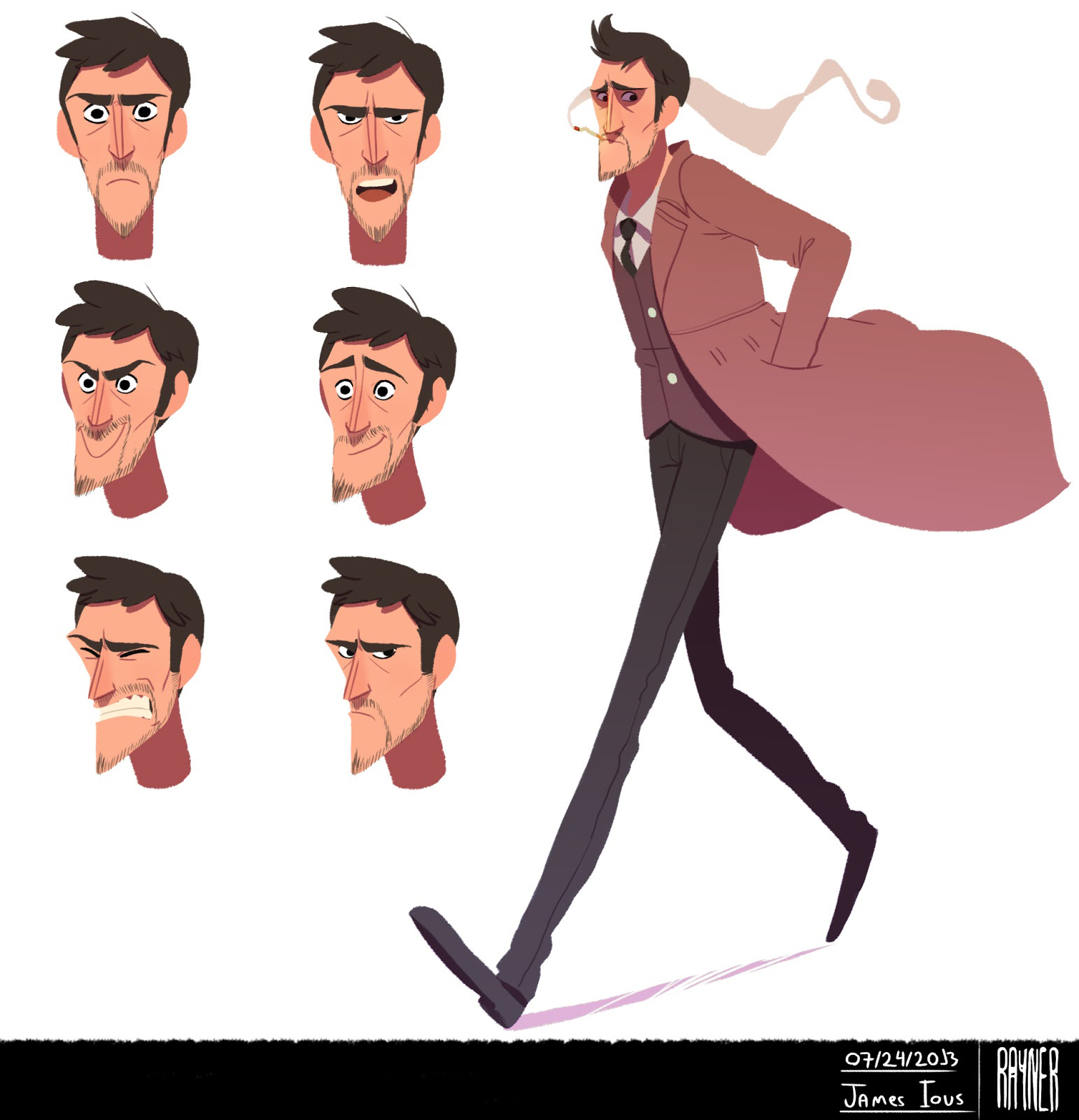 Character Design Man : Rayner alencar concept art world