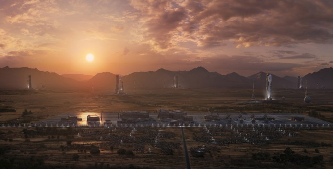 Beyond Civilization Cinematic Matte Painting