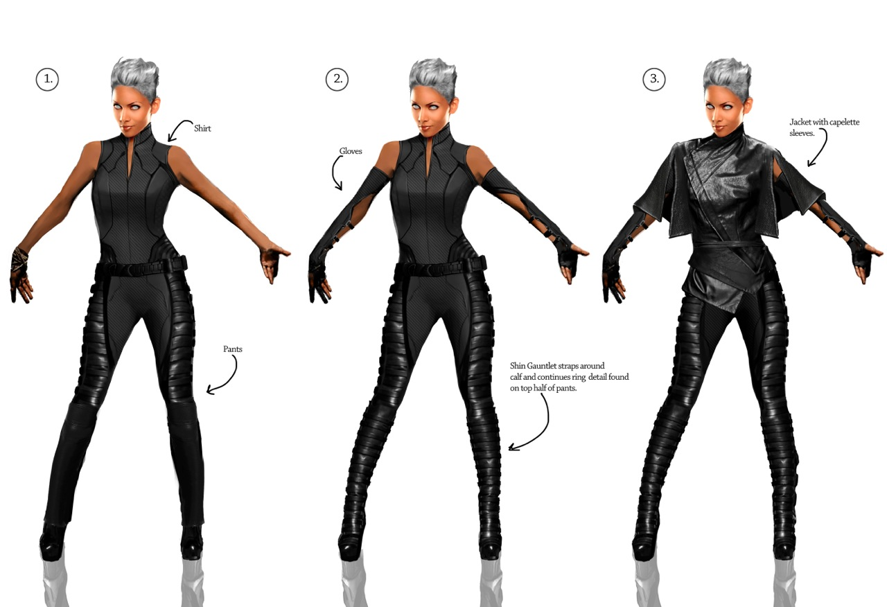 Men  Days of Future Past Costume Concept Art by Phillip Boutte Jr X Men Days Of Future Past Storm