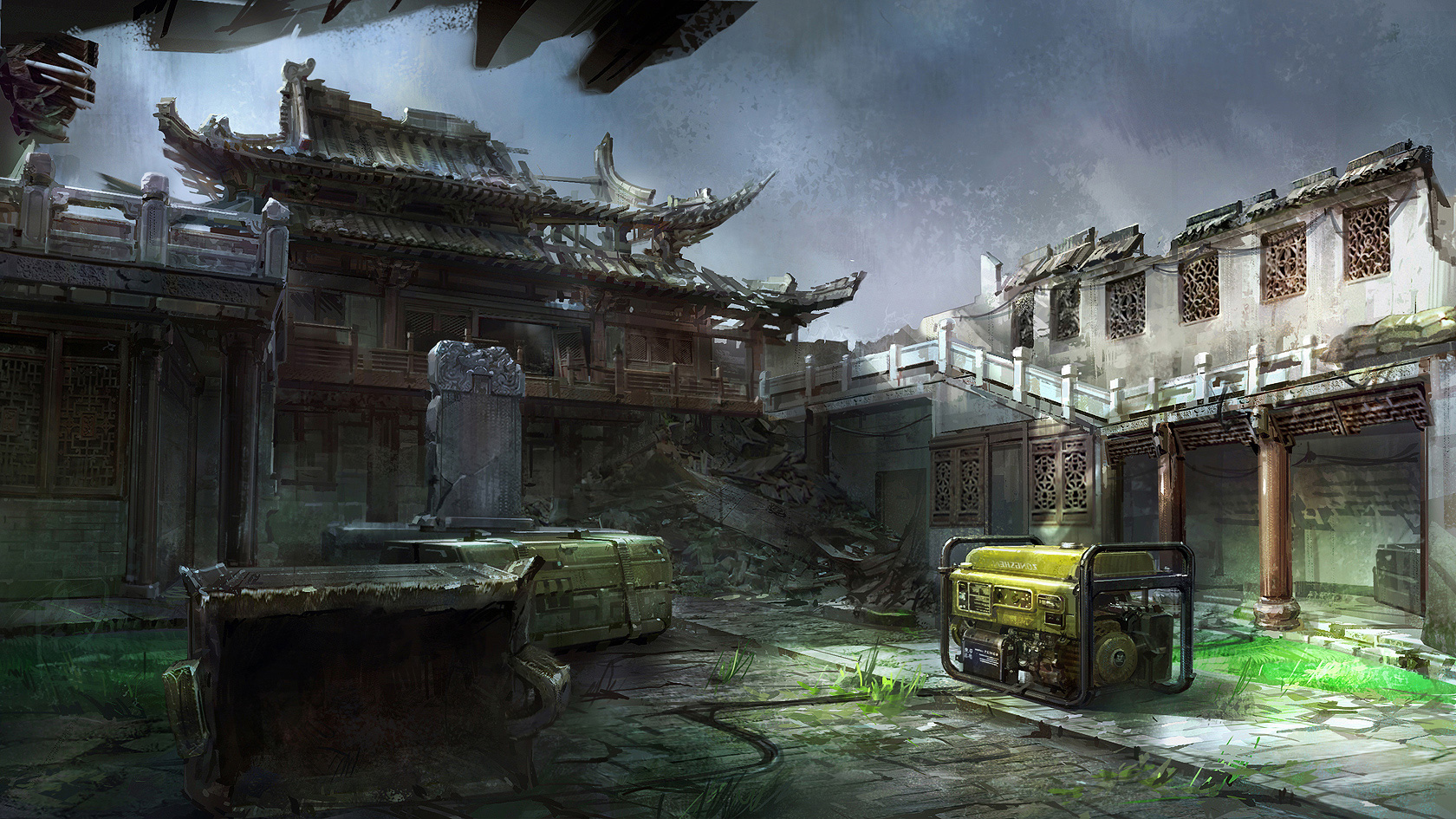 Yuanda Yu Concept Art Illustration Rf Env Losttemple1