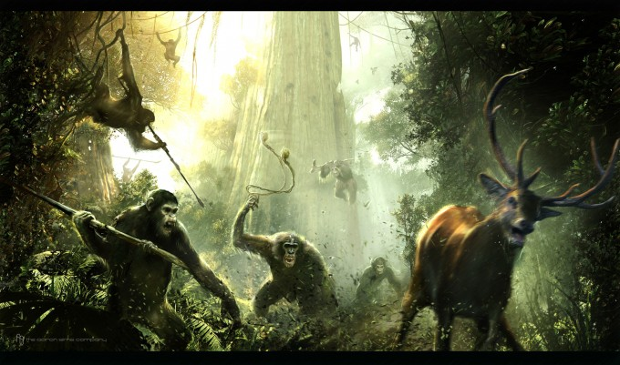 Dawn_of_the_Planet_of_the_Apes_Concept_Art_ASC_DeerHunting_01