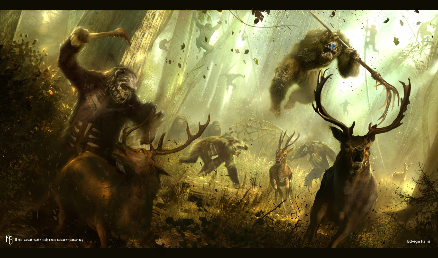 dawn of the planet of the apes concept art by the aaron sims