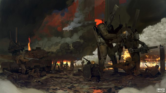mikhail borulko concept art war 12