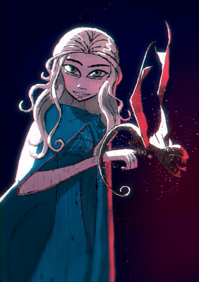 Game_of_Thrones_Concept_Art_Illustration_01_Melody_Cisinski_Daenerys