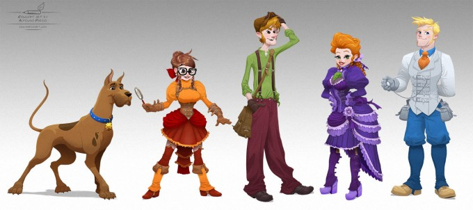 Alfonso_Pardo_Concept_Art_Illustration_Victorian_Scooby