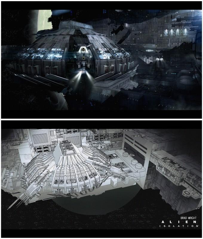 Alien_Isolation_Concept_Art_BW_spaceport