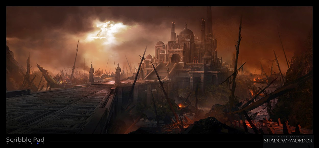 Middle Earth Shadow Of Mordor Concept Art By James Paick