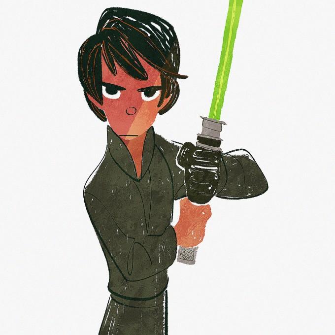 Star_Wars_Art_Illustration_01_Bobby_Pontillas_Luke