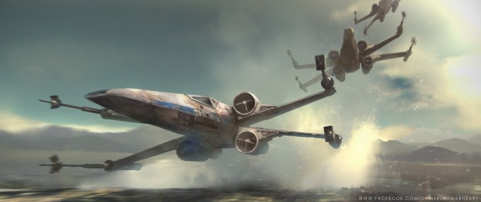 Star_Wars_Art_Illustration_01_Chris_Rosewarne_X-Wing_01